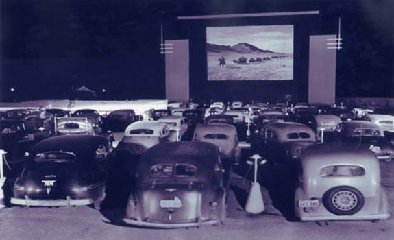 Old Time Drive in Movie Theater